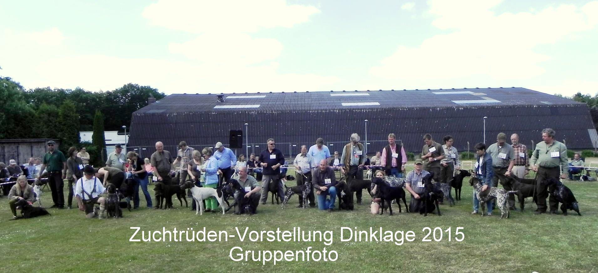 Gruppenfoto Zuchtrüden-Vorstellung Dinklage 2015